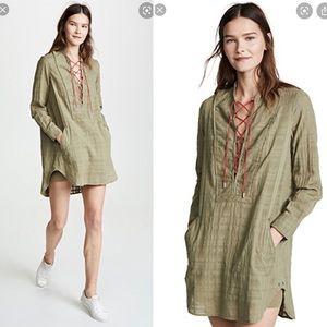 Rag & Bone Isla dusty green dress XS